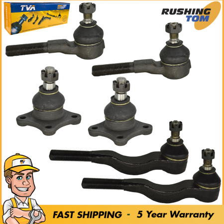Steering Idler & Pitman Arm Outer Tie Rod kit for 4WD 2000 Mitsubishi Montero
