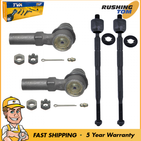 4Pc Kit Inner & Outer Tie Rod fits 1998 1999 2000 2001 Nissan Altima