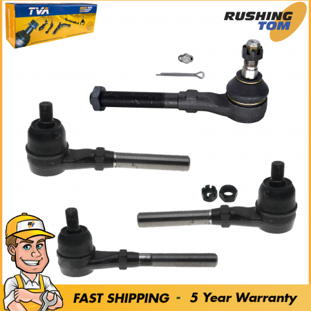 4Pc Front Inner & Outer Tie Rod Kit for Ford F150 Expedition F250-4WD Only