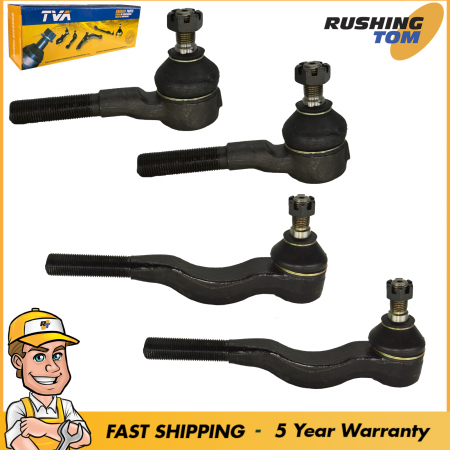 4 Steering Tie Rod 2 Front Inner 2 Front Outer fits Mitsubishi Montero 1992-2000