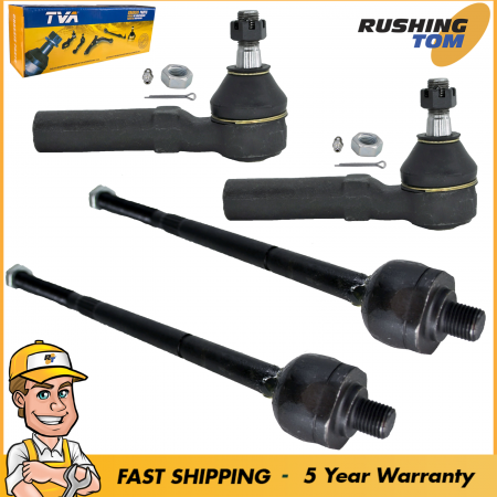 Tie Rod Kit 4 Inner Outer for Grand Caravan Voyager Town & Country