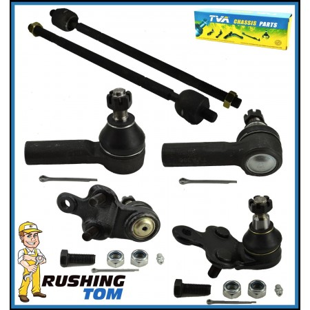 6Pc Supension Kit Lower Ball Joint Inner & Outer Tie Rod fits Lexus Toyota