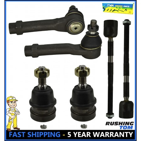 6Pc Inner & Outer Tie Rod with Lower Ball Joint Kit for Ford Mustang Capri