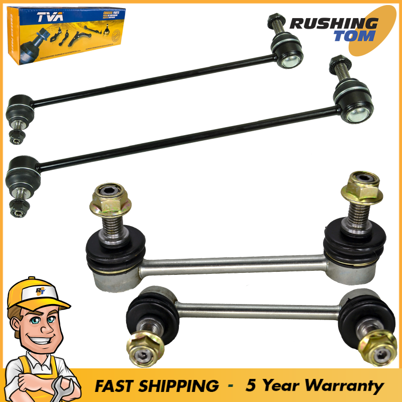 4 Front & Rear Stabilizer Sway Bar End Link for Volvo S60 S80 V70 XC70