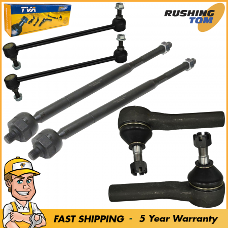 6Pc Front Outer Inner Tie Rods Sway Bars Kit Fits 2004-2008 Chrysler Pacifica