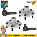 4Pc Front Wheel Hub & Bearing Assemblies Outer Tie Rod for Nissan