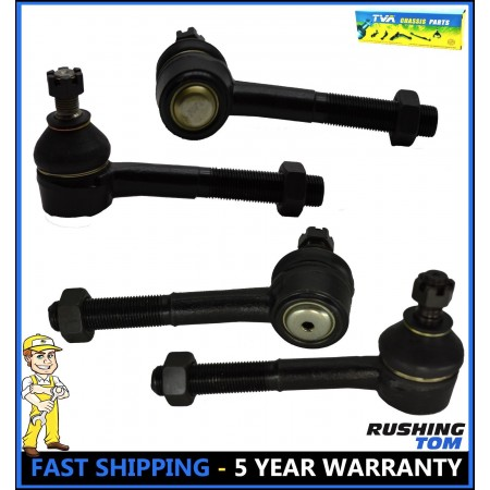 4 Pcs Kit Outer & Inner Tie Rod Front For Nissan D21 Pathfinder Pickup 4WD