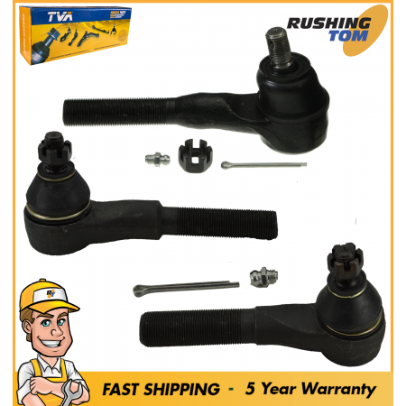 3PC Front Inner Outer Tie Rod Kit for Jeep Comanche Wrangler Grand Cherokee