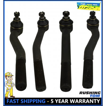 2 Front Upper Lower Tie Rod fits 1999-01 2002 2003 2004 Jeep Grand Cherokee