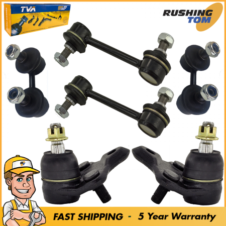 6Pc Suspension Kit for 1993-02 Toyota Corolla Ball Joint Sway Bar