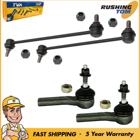 4 Front Sway Bars Link & Outer Tie Rod for Chrysler Dodge Jeep Compass