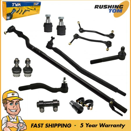 12Pc Complete Steering Tie Rod Ball Joint Kit for Ford Excursion F250 F350 4WD