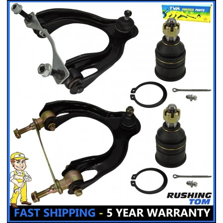 4Pc Kit Front Upper Control Arm & Lower Ball Joint for Acura Integra Honda Civic