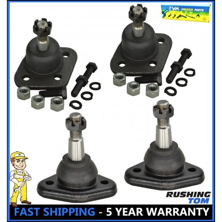 4 Pc Kit Upper & Lower Ball Joint Ford Thunderbird LTD Lincoln Mark III Mercury